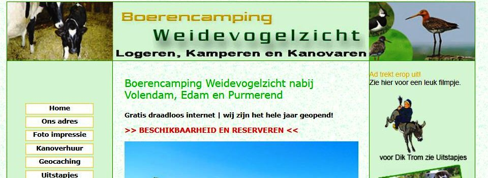 Oude website